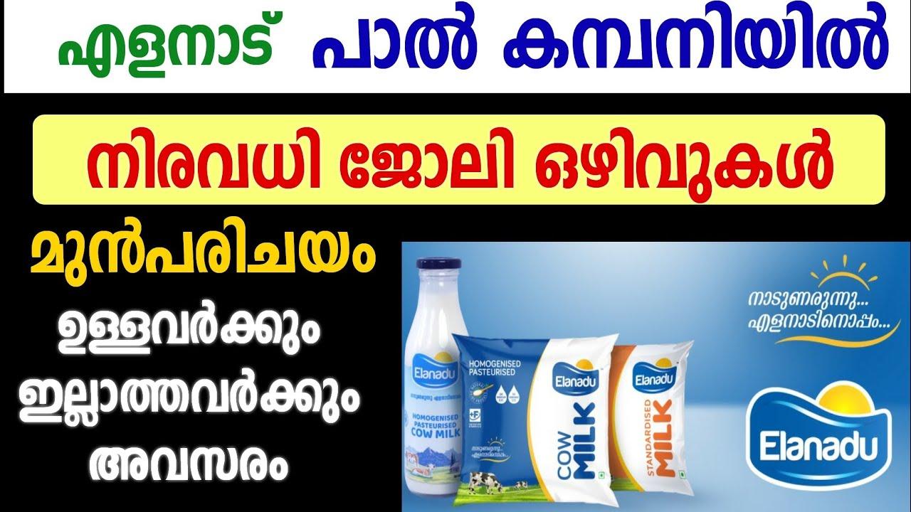 ഈ അവസരം കളയണ്ട : പാല് കമ്പനിയില് എല്ലാ ജില്ലയിലും ഒഴിവുകള് - നേരിട്ട് ഇന്റര്വ്യൂ - Kerala Jobs