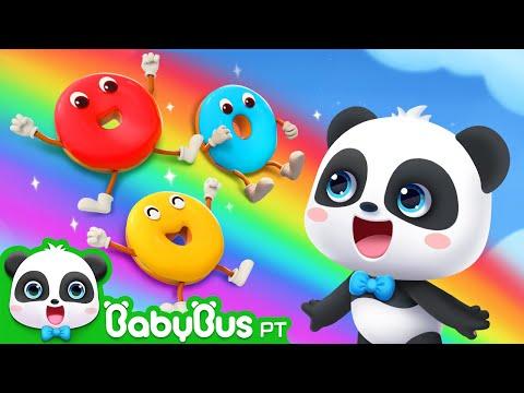 Dez Donuts   Aprender Cores   Aprender Números   Historinhas E Músicas Infantis   BabyBus Português