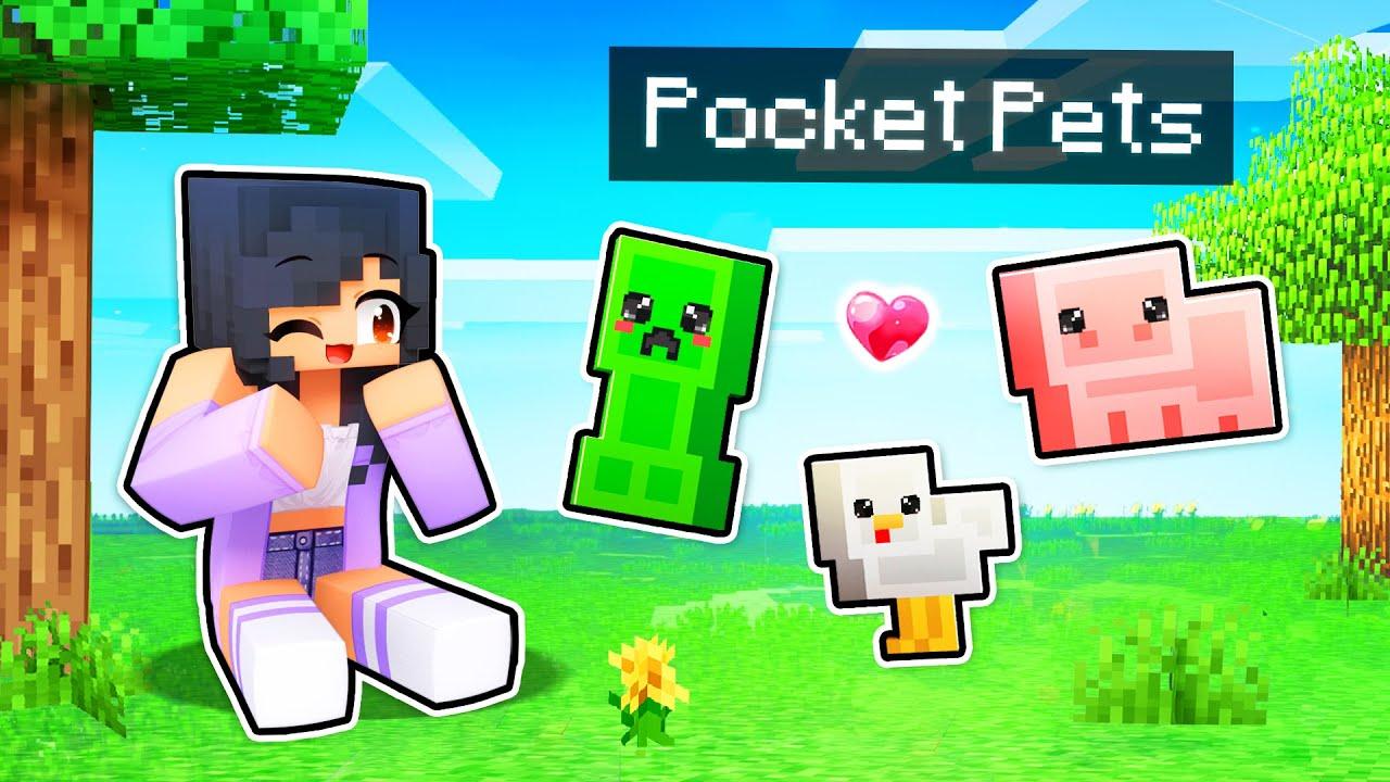 We ADOPT Helpful POCKET Pets In Minecraft!