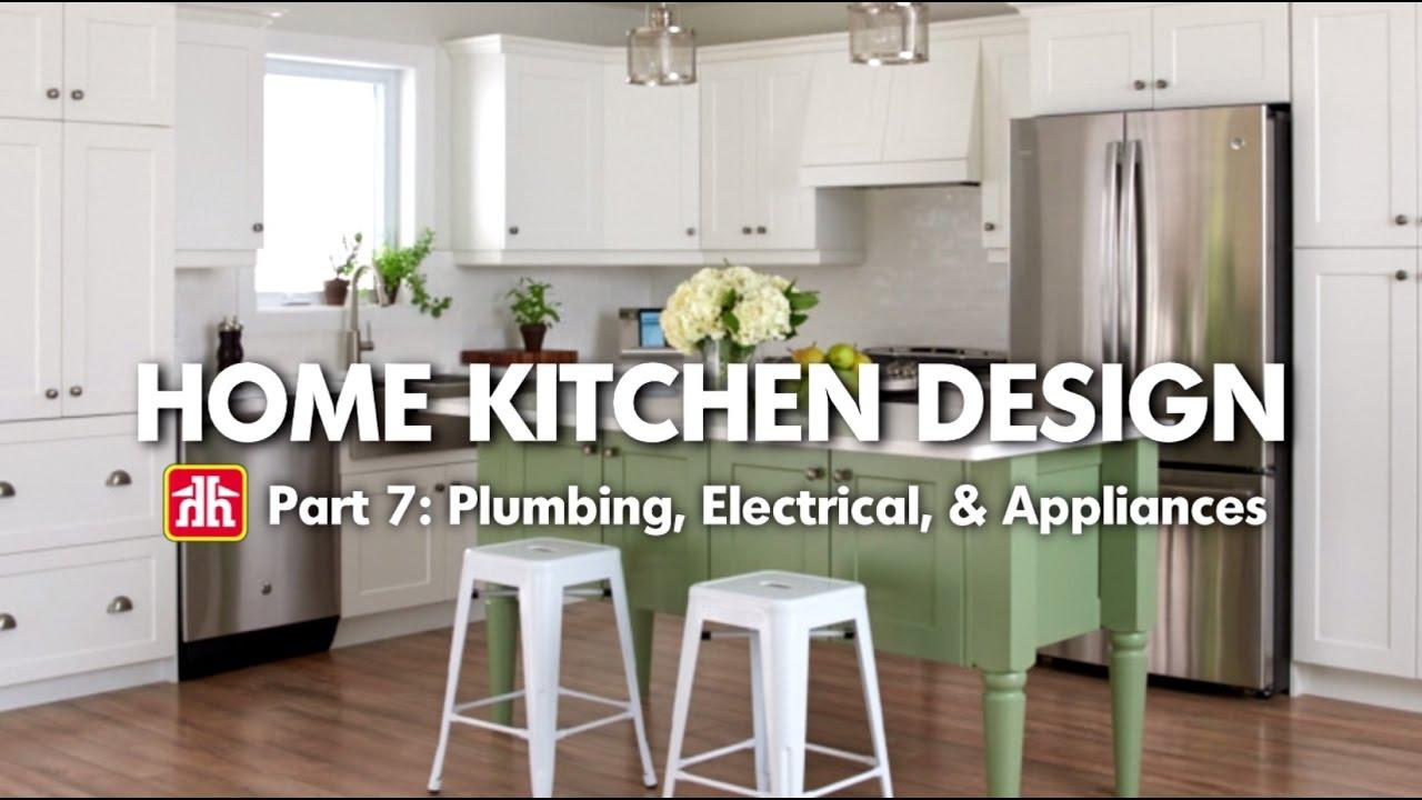 house home home kitchen design pt 7 plumbing electrical appliances [ 1280 x 720 Pixel ]