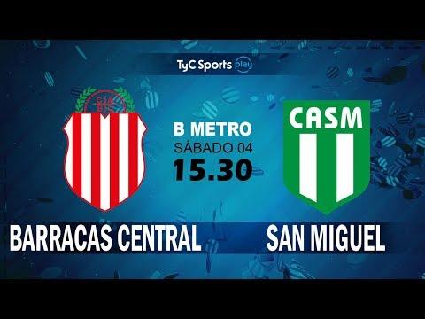 Primera B Metropolitana: Barracas Central vs. San Miguel l #PrimeraBenTyC
