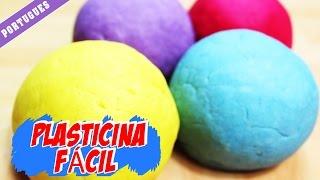 Plasticina Fácil  | Easy No Bake Play Doh | Portuguese – Diy How To Videos | Manualidades Para Niños
