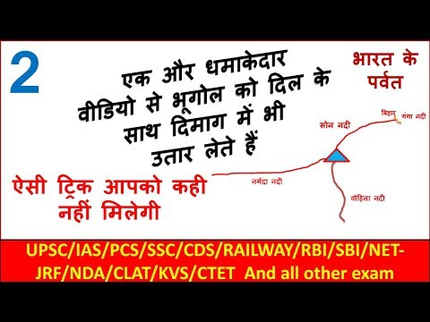 Bhugol In Hindi  Geography trick in hindi  Bharat ke parwat Part - 2  Crazy gk trick