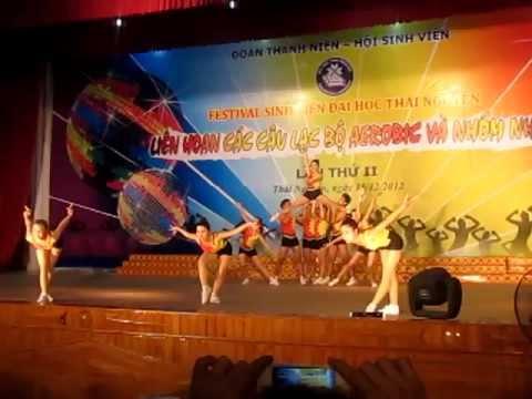 Aerobic Khoa Ngoại Ngữ ĐH Thái Nguyên - giải nhì