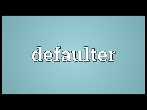 Header of defaulter