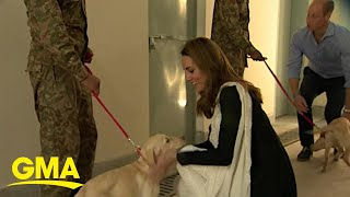 Kate Middleton and Prince William end Pakistan tour with a dog walk