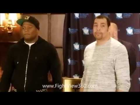 LUIS ORTIZ VS DERRIC ROSSY FACE OFF STAREDOWN! OFFICIAL ORTIZ VS ROSSY ON BERTO VS PORTER!