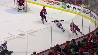 Referee Steve Barton #59 in NHL  falls alone in Game 2 of Capitals - Blue Jackets