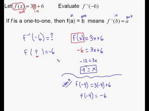 Finding An Inverse Function Value Given A Formula Youtube