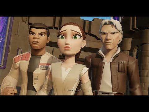 Disney Infinity 3.0 - The Movie (Star Wars: The Force Awakens Playset) - All Cutscenes & Boss