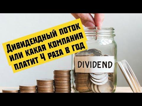 Какая российская компания платит дивиденды 4 раза в год?
