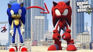 SONIC becomes SPIDERMAN (GTA 5 Mods)
