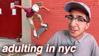My First Time ADULTING in NYC! 🎓🌆 (with skateboarding)