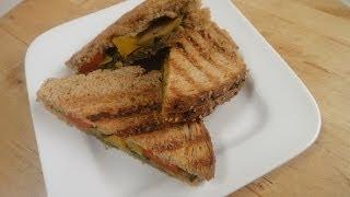Vegetable And Pesto Grilled Sandwich  | Sanjeev Kapoor Khazana