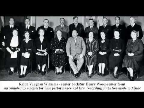 1st recording - Vaughan Williams: Serenade to Music