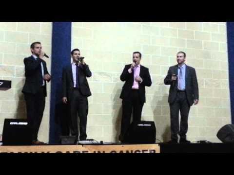 Pathway Quartet singing in concert