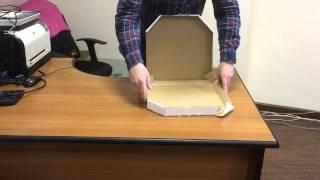 Как собрать коробку для маленькой пиццы(Без труда собрать коробку для маленькой пиццы вам поможет наша инструкция. Подробнее о коробках для пиццы..., 2015-01-21T11:31:13.000Z)