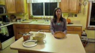 Alicia Rossman Cooking Gingersnap Pumpkin Pie With Pralines