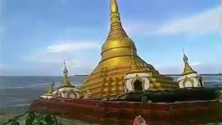 انهيار معبد بوذي في احد الانهار - صحيفة صدى الالكترونية