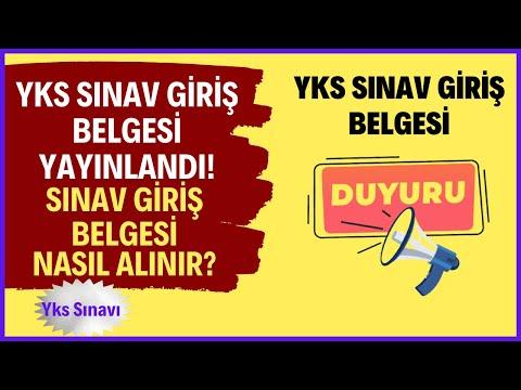 Yks Sınav Giriş Belgesi YAYINLANDI! (Yks Sınav Giriş Belgesi Nasıl, Nereden Alın