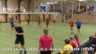Handball. Askoy HK:AHK 4 (NOR) - KSLI (Kiev, UKR). Viborg. U16gerls. Gr5. GENERATION HANDBALL-2018