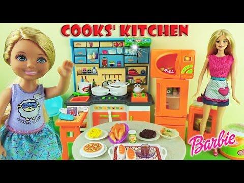 Лепим пельмени с Барби 🍴Валя и Барби идут в магазин 🧀🍗🍐 Игры Барби для девочек
