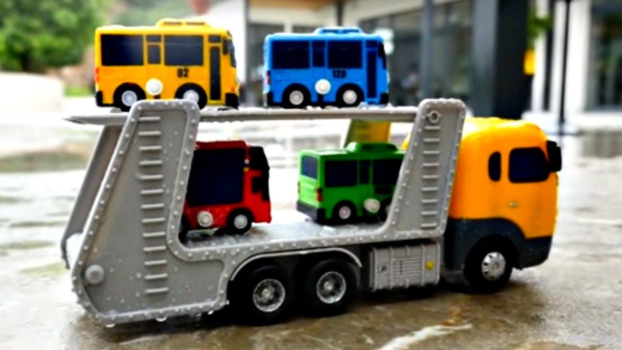 Тайо маленький автобус его друзья и Гараж - Даник и Игрушки из .