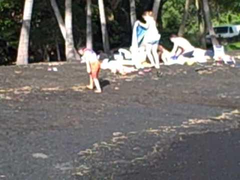 Kona Part 21 - Black Sand Beach at Punalu