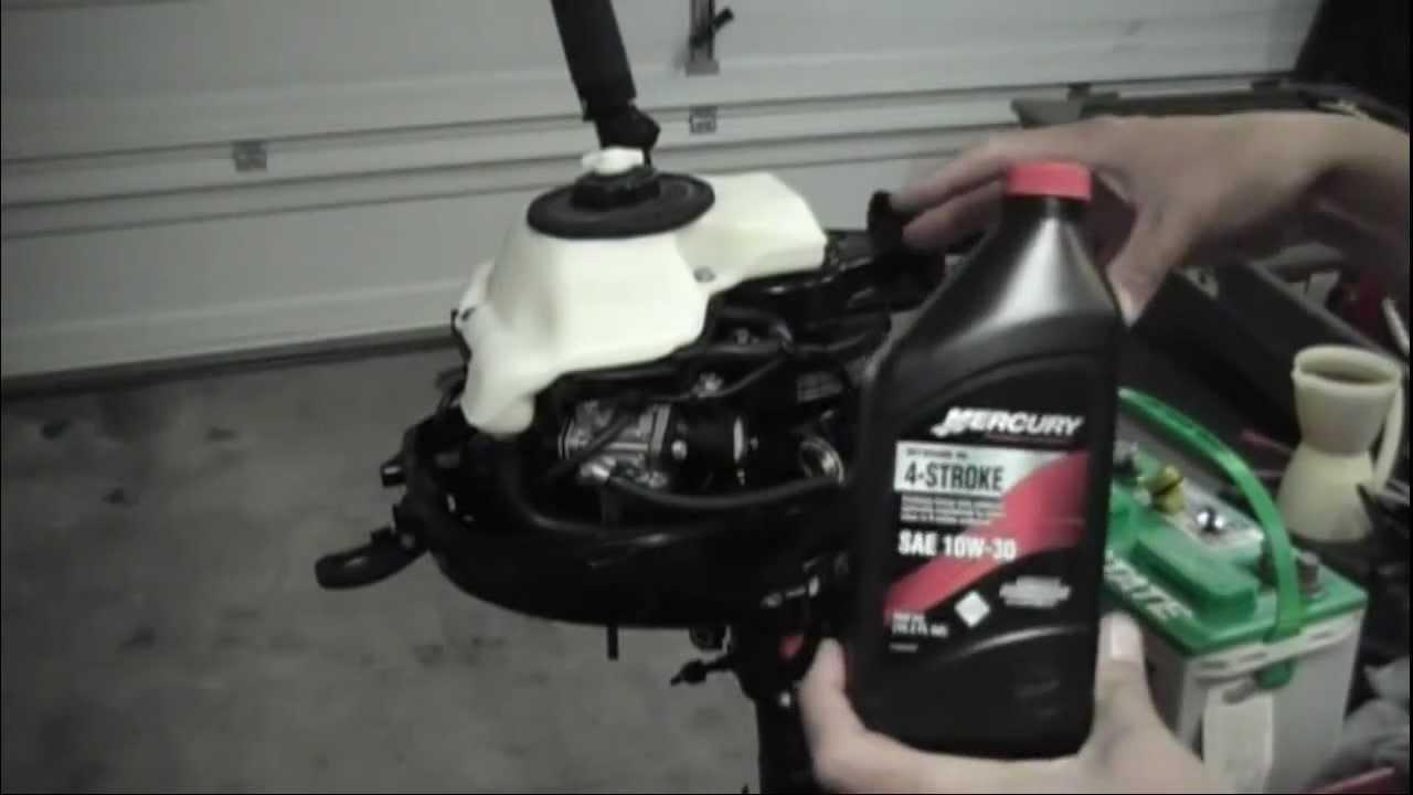Mercury 3 5hp 4 Stroke Outboard Oil Change Youtube