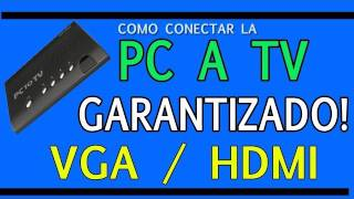 CONECTAR PC A TV - LAPTOP A TELEVISION (VGA / HDMI)