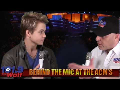 Backstage with Hunter Hayes at the 2012 ACM Awards in Las Vegas