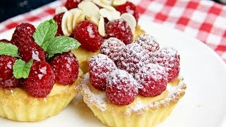 Frangipane Tarts With Raspberries - Recipe By Zatayayummy