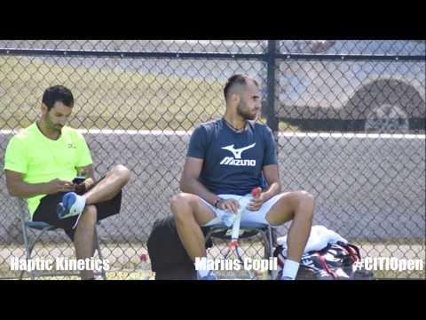 Marius Copil - World's fastest serves - super slo mo @ #CITIOpen [ HD]