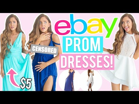 Thumbnail: TRYING ON $5 EBAY PROM DRESSES?! Cheap Dresses I Bought Online! ( eBay + Amazon )
