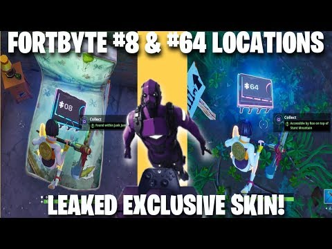 Fortnite *NEW* Exclusive Skin Release Date | FortByte Challenges #8 & #64 Guide