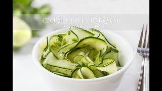 Cucumber Zucchini Ribbon Salad | Vegan, Paleo, Keto