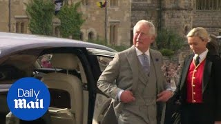 Prince Charles arrives for Princess Eugenie's royal wedding