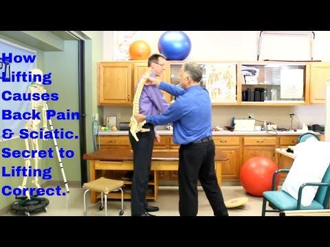 How Lifting Causes Back Pain & Sciatica- Secret to Lifting Correct.