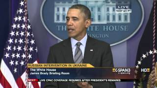 President Obama statement on Ukraine (C-SPAN)