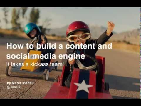 How to build a content marketing and social media engine
