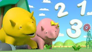 Дино и Дина рассматривают облака и учат цифры - Учимся вместе с Дино | Обучающие видео для детей