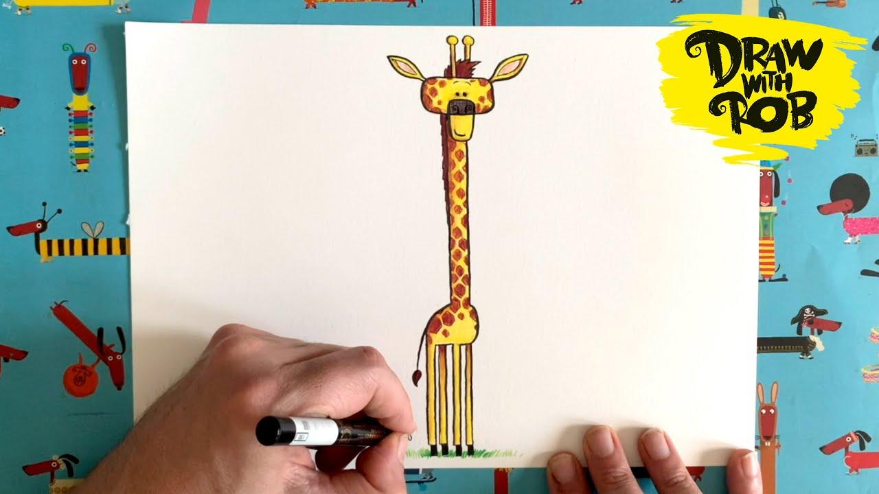 #DrawWithRob 31 Giraffe