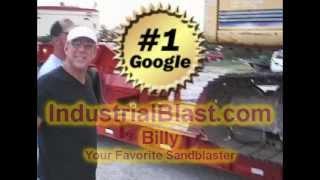 Sandblasting Tampa 727-482-9403 Painting Semi Truck Trailer IndustrialBlast.com