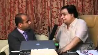 Kader Khan is talking about Afghanistan in Pashto and Farsi language with Shamshad tv