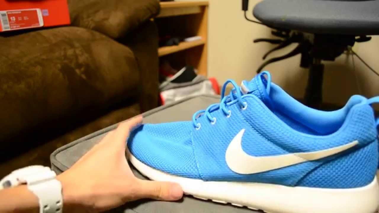 08447d5b1d386 Nike Roshe Run - Blue Hero Sail - YouTube