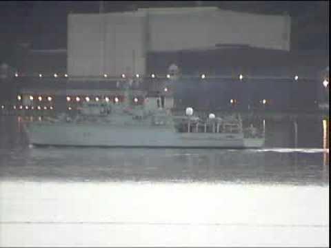 HMS Hurworth in Loch Long