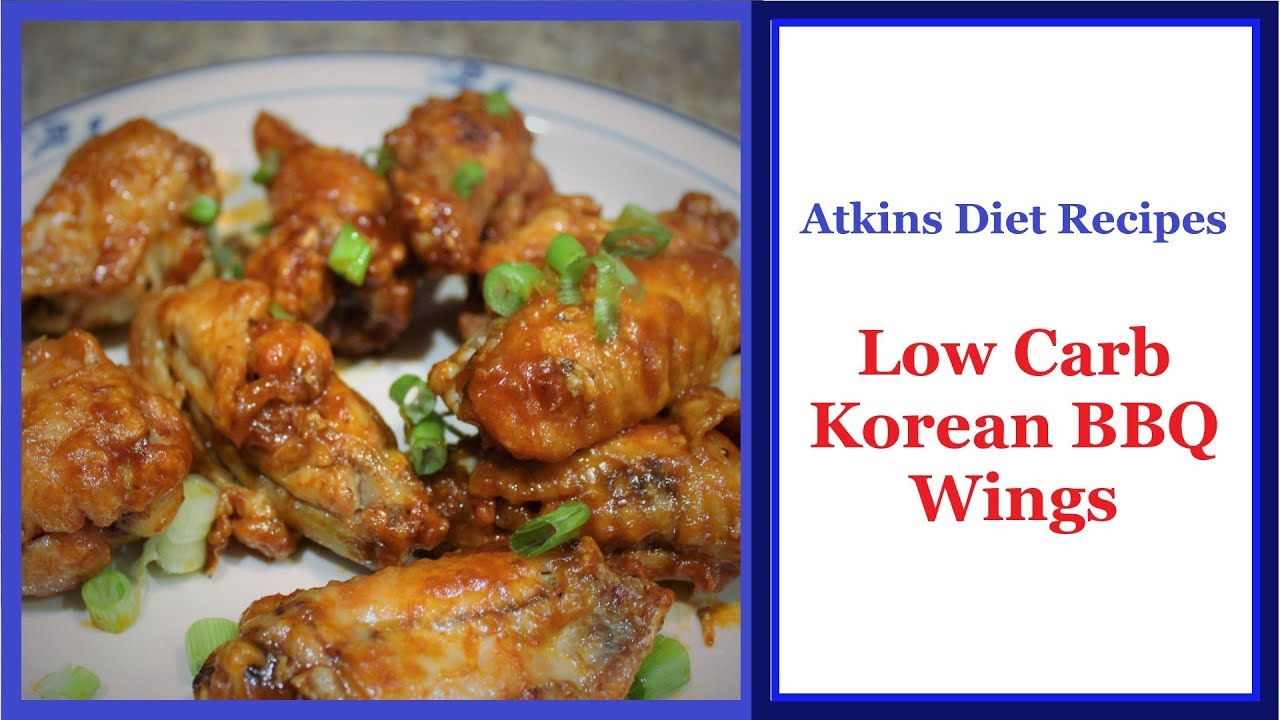 Atkins Diet Recipe Low Carb Korean Bbq Wings Owl