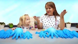 Find Your Slime Ingredients |Slime Gloves Challenge| Cautam Ingrediente pentru Slime | Anabella Show