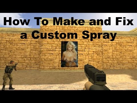 Counter Strike How To Make A Custom Spray And Fix If Not Working