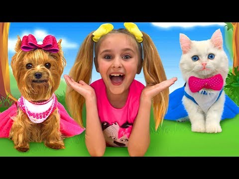Sasha and Max found a Kitten & Puppy and starts pet beauty contest
